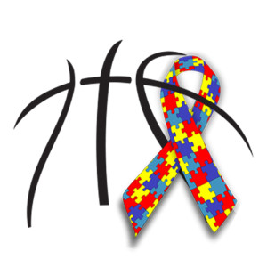 basketball autism ribbon